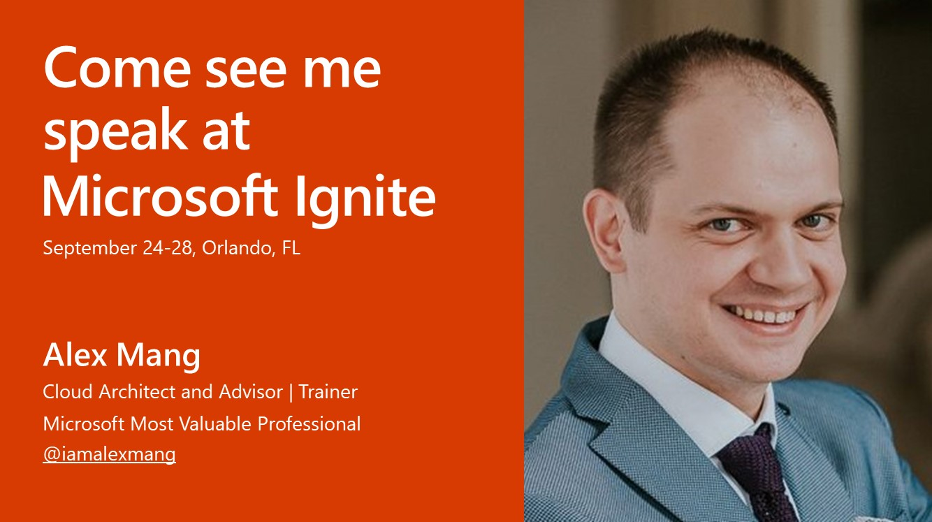 Alex Mang Speaks At #MSIgnite